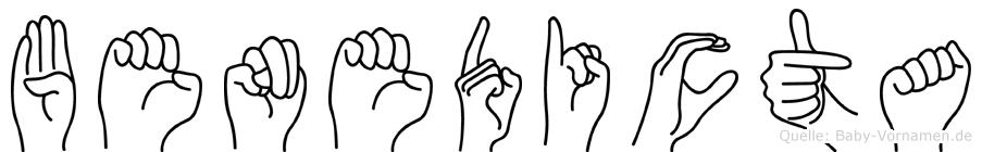 Benedicta im Fingeralphabet der Deutschen Gebärdensprache