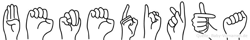 Benedikta im Fingeralphabet der Deutschen Gebärdensprache