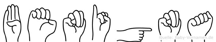 Benigna in Fingersprache für Gehörlose