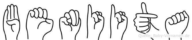 Beniita im Fingeralphabet der Deutschen Gebärdensprache