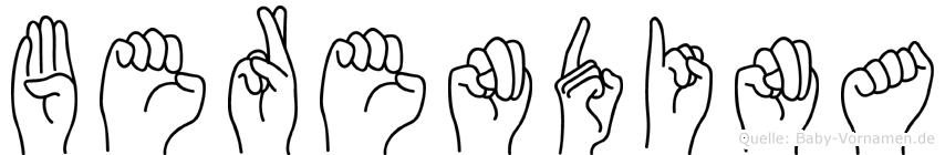 Berendina in Fingersprache für Gehörlose