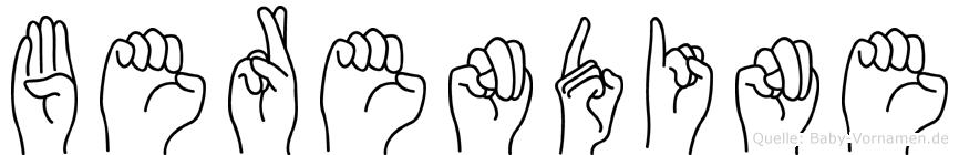 Berendine in Fingersprache für Gehörlose