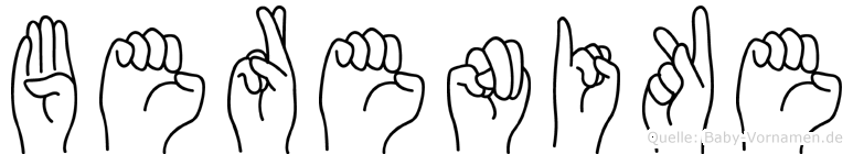 Berenike im Fingeralphabet der Deutschen Gebärdensprache