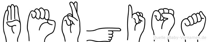Bergisa im Fingeralphabet der Deutschen Gebärdensprache