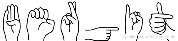 Bergit in Fingersprache für Gehörlose