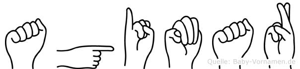 Agimar im Fingeralphabet der Deutschen Gebärdensprache