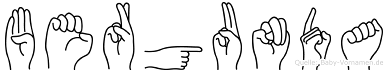 Bergunda in Fingersprache für Gehörlose