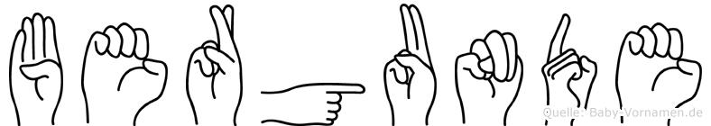 Bergunde in Fingersprache für Gehörlose