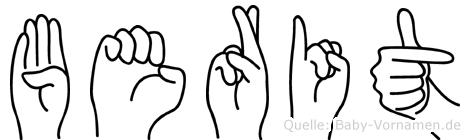 Berit in Fingersprache für Gehörlose
