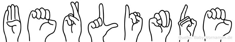 Berlinde in Fingersprache für Gehörlose