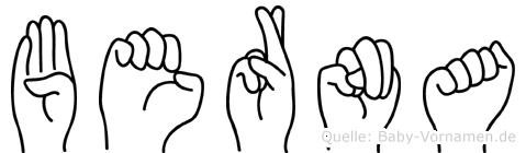 Berna in Fingersprache für Gehörlose