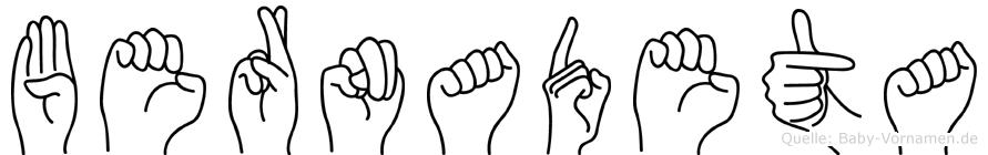 Bernadeta in Fingersprache für Gehörlose