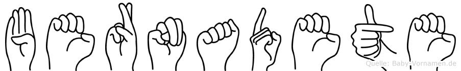 Bernadete in Fingersprache für Gehörlose
