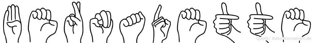 Bernadette in Fingersprache für Gehörlose