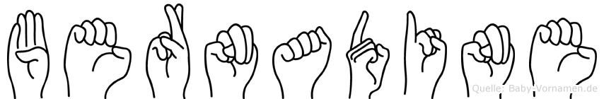 Bernadine in Fingersprache für Gehörlose