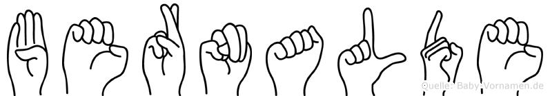 Bernalde in Fingersprache für Gehörlose