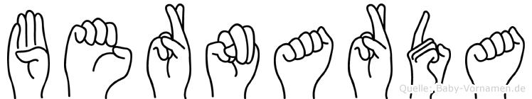 Bernarda in Fingersprache für Gehörlose