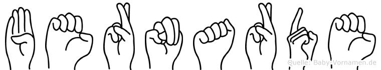 Bernarde in Fingersprache für Gehörlose