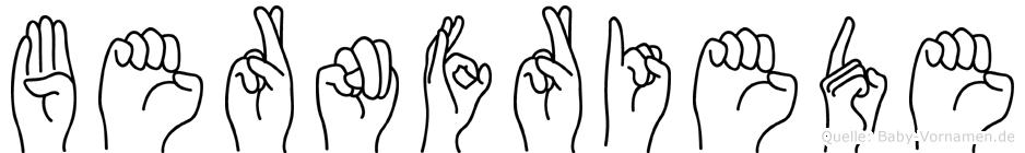 Bernfriede in Fingersprache für Gehörlose