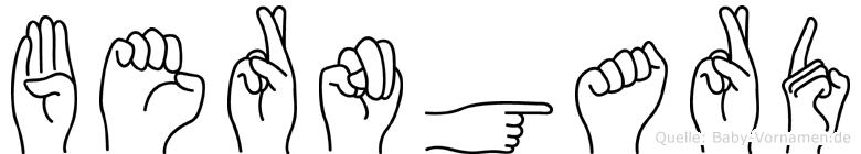 Berngard in Fingersprache für Gehörlose