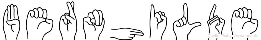 Bernhilde in Fingersprache für Gehörlose