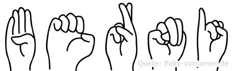 Berni in Fingersprache für Gehörlose