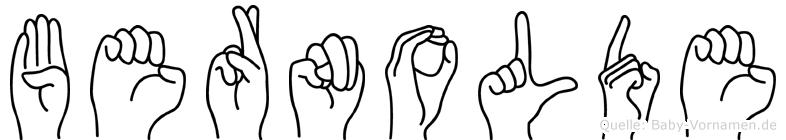 Bernolde in Fingersprache für Gehörlose