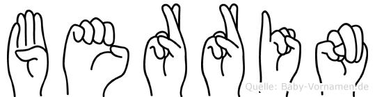 Berrin in Fingersprache für Gehörlose