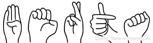 Berta in Fingersprache für Gehörlose