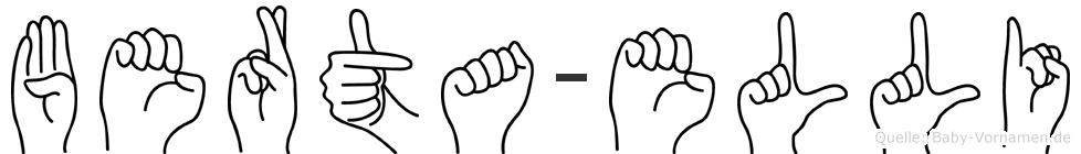 Berta-Elli im Fingeralphabet der Deutschen Gebärdensprache