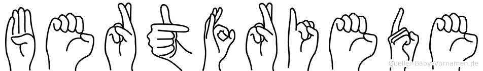 Bertfriede in Fingersprache für Gehörlose