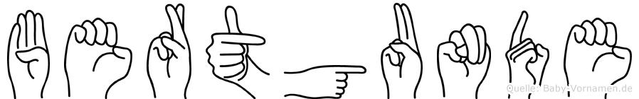 Bertgunde in Fingersprache für Gehörlose