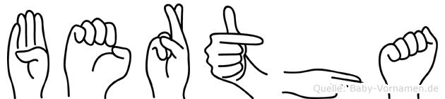 Bertha in Fingersprache für Gehörlose