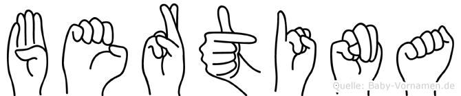Bertina in Fingersprache für Gehörlose
