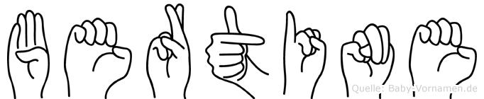 Bertine in Fingersprache für Gehörlose