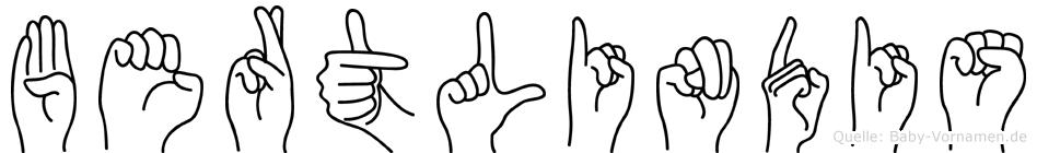 Bertlindis in Fingersprache für Gehörlose