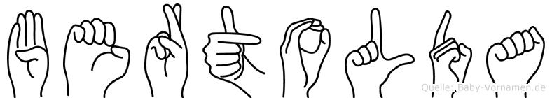 Bertolda in Fingersprache für Gehörlose