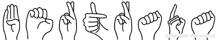 Bertrada in Fingersprache für Gehörlose