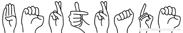 Bertrade in Fingersprache für Gehörlose