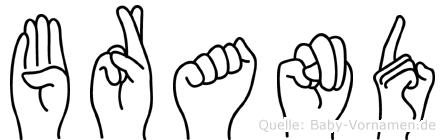 Brand in Fingersprache für Gehörlose