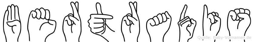 Bertradis in Fingersprache für Gehörlose