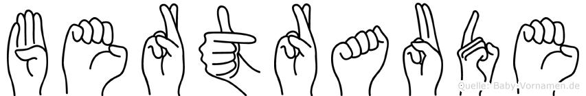 Bertraude in Fingersprache für Gehörlose
