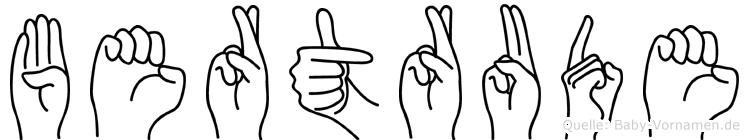 Bertrude in Fingersprache für Gehörlose