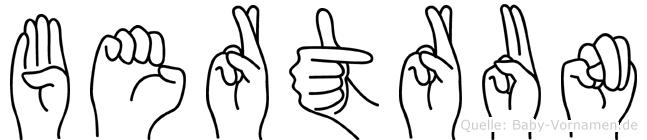 Bertrun in Fingersprache für Gehörlose
