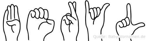 Beryl in Fingersprache für Gehörlose
