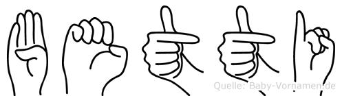 Betti in Fingersprache für Gehörlose