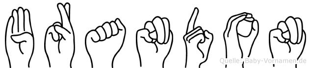 Brandon in Fingersprache für Gehörlose