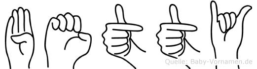 Betty in Fingersprache für Gehörlose