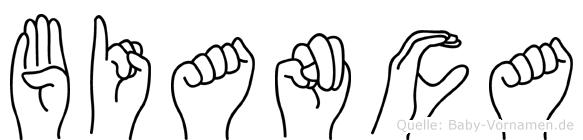 Bianca in Fingersprache für Gehörlose