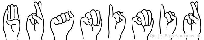 Branimir im Fingeralphabet der Deutschen Gebärdensprache